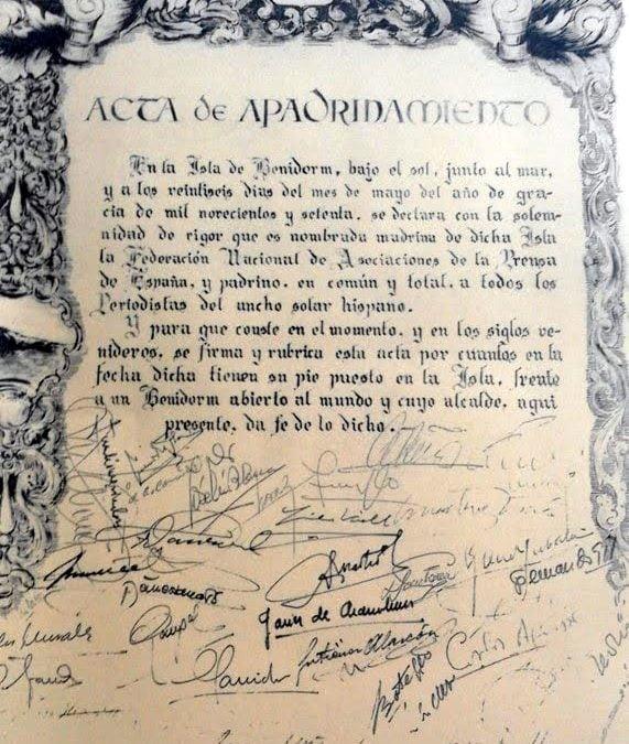 50 aniversario del nombramiento de la Isla de Benidorm como Isla de los Periodistas